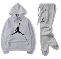 vestes de basket-ball de mode achat en gros de-Nouveau Mode Femmes Hommes Survêtements Veste Etudiants costume sportif Unisexe Casual manteau chaud avec un pantalon # 1136