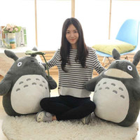 Wholesale kids ceramic toys resale online - 27 cm Cute wedding press doll children birthday girl Kids Toys Totoro doll Large size pillow Totoro plush toy doll SH190913