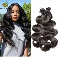 doğal gevşek kıvırcık saç uzantıları toptan satış-Brezilyalı Bakire Saç Demetleri Insan Saç Atkı Doğal Renk Örgüleri Düz Vücut Dalga Derin Dalga Kıvırcık Gevşek Dalga Dalgalı Saç uzantıları