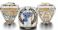 Wholesale white cup rhinestones resale online - 2018 St Louis Blues Stanley Cup championship rings Fan Men Gift Drop Shipping