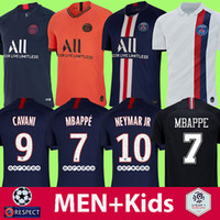camisetas de futbol tailandia xxl al por mayor-19 20 camisetas de fútbol PSG camiseta de fútbol MBAPPE NEYMAR JR CAVANI VERRATTI top tailandia 2019 2020 camiseta de fútbol paris SILVA Camiseta de futbol