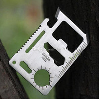 Wholesale multifunction tool card 11 resale online - Multi Tools in Multifunction Outdoor Hunting Survival Camping Pocket Military Credit Card Knife