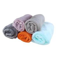 Wholesale dog printed blankets for sale - Group buy 1pcs Pet Blanket Sleep Warm Print Dog Cat Puppy Fleece Super Soft Warm Coral Velvet Kennel Mat X cm Random Color