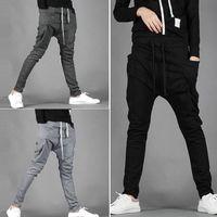 erkek harem hip hop toptan satış-2018 Sporting Harem Pantolon Erkek Pantolon Sonbahar Vouge erkek Moda Pantolon Erkek Hip Hop Rahat Erkek Pantolon Sweatpants Artı Boyutu