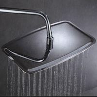 duschkopf spritzt wand großhandel-8x12 16x10 zoll bad regen duschkopf 2mm dicke an der wand montiert regendusche kopfspray a-le102