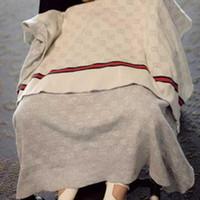 mantas tamaño king al por mayor-INS Baby Blanket FASHION Marca Quality Blanket Summer Beach Carpet Beige Knitting Blanket For Baby 90 * 120CM Envío gratis