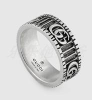 ingrosso regali d'auto d'epoca-Gli uomini del progettista di marca squilla l'anello d'argento sterlina di personalità 925 dell'anello d'annata dell'automobile Gg dell'anello degli uomini di lusso dei monili del ragazzo dei regali del fidanzato