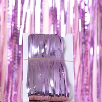 Wholesale direct party supplies for sale - Group buy Factory direct birthday wedding m rain silk holiday party photo background wall decoration flat rain silk curtain Party Supplies