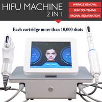 machine de levage de visage achat en gros de-HIFU machine de levage anti-âge hifu maison de salon utiliser machine hifu avec 5 cartouches 10 000 coups pour le visage et le corps