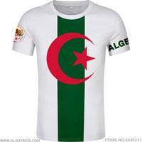 Wholesale arab photo resale online - ALGERIA t shirt free custom made name number dza t shirt islam diy arabic algerie arab print text word black flag photo clothing