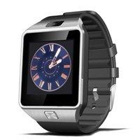 u8 relojes inteligentes para hombres al por mayor-HESTIA DZ09 Smart Watch para hombres Soporte para tarjeta SIM TF cámara Electrónica Reloj de pulsera Conectar Android Smartphone PK U8 Smartwatch