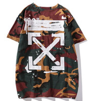 camisa de manga corta con capucha hombre al por mayor-Camiseta de hombre Camuflaje de verano Camisetas con capucha casuales Camiseta de manga corta para mujer Homme xh