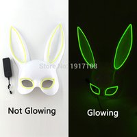 Wholesale birthday masks for sale - Group buy LED Masquerade Mask Lovely Mask EL Glowing for Birthday Party Halloween Costume Accessory Party Decor