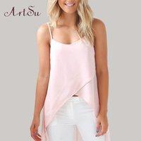rosa weiße sommerkleid frauen großhandel-Weißes rosafarbenes T-Shirt Sommer-Dame Normallack Art und Weise reizvolle Frauen sleeveless Chiffon- Kleidfrau reizvoller Rock