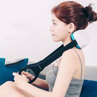 vücut masaj aletleri toptan satış-YENI ST-302 U Şekli Elektrik Şarj Edilebilir Boyun Masaj Enstrüman Geri Boyun Omuz Vücut Servikal Masaj Araba / Ev Massagem