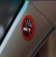 ingrosso corpo del logo-5 centimetri gomma universale NO Punte fumatori Segno Logo avvertimento dell'automobile Auto Body Per Forester Outback Legacy XV Impreza Sport