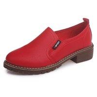 ingrosso tacchi alti-Scarpe RYAMAG Pu Oxfords in pelle verniciata per le donne Spring Toe Platform Low Heels Pumps Brogue Woman