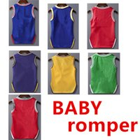 Wholesale newborn sports clothes resale online - Designer Newborn Baby Clothing Sport Toddler Baby Tracksuit Vest Girls Boys Clothes Romper Short Jumpsuits Infant Rompers Boutique XZT034