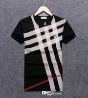 ingrosso stand di lavoro-Maglietta del progettista degli uomini Magliette di lusso Maglietta dell'anca di Hip Hop Maglietta del progettista casuale del cotone di nuovo modo di marca respirabile a maniche corte casuale