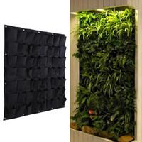 kapalı açık kaplar toptan satış-56 Cep Çanta Büyümek Açık Dikey Yeşillendirme Asılı Duvar Bahçe Bitki Çanta Duvar Ekici Kapalı Açık Herb Pot Dekor Ptsp