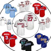 883f9415c 27 Mike Trout Angels jersey 24 Ken Griffey Jr Mariners jerseys 5 Freeman 19  Yount retro mesh 44 Goldschmidt 51 Johnson wholesale