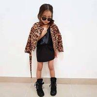 jaquetas de couro para crianças venda por atacado-Jaquetas de couro de leopardo para revestimentos de couro crianças meninas Faux para a criança meninas PU Leather Jackets Crianças Casacos e Coats