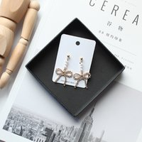 Wholesale fashion department for sale - Group buy Contracted Hand Makes Earring Fashion Joker Bowknot Eardrop Sen Department Is Small and Pure and Fresh Lovely Pearl Earring