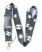 футляр для мобильного телефона оптовых-Вентиляторы черный Футбольный Шаблон Ремешок для Ключей Чехлы для Мобильных Телефонов