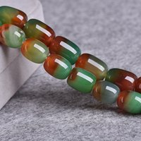 Discount barrel agate beads 10x14mm 13x18mm Natural Peacock Agate Stone Beads For Jewelry Making Barrel shape Loose Agate Beads DIY Bracelet Necklace 15''