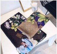 ingrosso sciarpe bikini-2019 New Silk Scarf Donna Alta Qualità Italia Marca Fiore Sciarpe di seta Sciarpe 180x90cm Pashmina Infinity Sciarpa Donne scialli Bikini Cover top