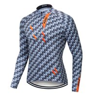 Wholesale black long sleeve cycling jerseys resale online - New Men Cycling Jerseys Spring Autumn Breathable Long Sleeve shirts Racing Bike Clothing Quick Dry MTB Bicycle Sportswear