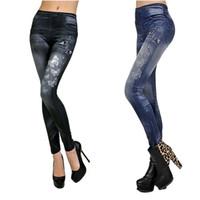 ingrosso pantaloni scarni alti neri alti-Jeans a vita alta con stampa a farfalla, elastici e sottili Jeans a matita skinny con pantaloni neri / blu # 534878