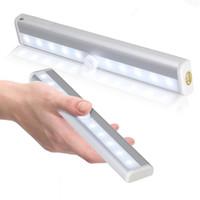 armários de cozinha de alta qualidade venda por atacado-Sensor de movimento lâmpada para cozinha de alta qualidade Aisle armário de parede Lâmpada Alumínio Iluminação Night Light JK0587