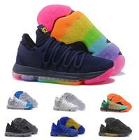 more photos d328f 313aa 2019 Nouveau Zoom KD10 EP Chaussures de basketball pour homme PE BHM Rouge  Oreo Blanc Chrome Rainbow Wolf Gris Kevin Durant Designer Sneakers  Chaussure De ...