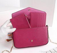 yeni model omuz çantaları toptan satış-2019 yeni moda kadın tasarımcı omuz çantası üç parçalı marka paket büyüklüğü 21/11/2 cm modeli 61276