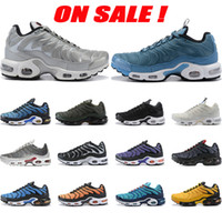 Wholesale colorful sneaker laces for sale - Group buy New Cheap Womens Mens Sport Shoes White Black Red Yellow Colorful Tn Ultra Chaussures Plus Sneakers Breathable Requin Running Shoes