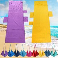 Wholesale summer beds online - Portable Beach Chair Cover Towel Microfiber Fiber Magic sunbath Summer Lounger Bed Mate Outdoor with Pocket x75cm PPA154