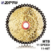 ouro preto mtb venda por atacado-ZTTO MTB Bicicleta 11Speed 11-46T SL L PretoGold Freewheel Cassette Peças para XT K7 X1 X01 GX NX 1X