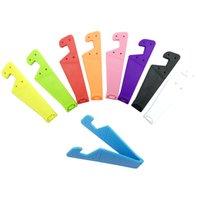 пластиковый телефон подставки оптовых-Пластиковый CelPhone Стенд Красочные Ленивый V-образный Творческий Настольный Мобильный Телефон Kickstand Кронштейн Подходит Для Apple Ipad Для Samsung Для Huawei