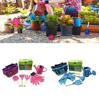 ingrosso set regalo per bambine-Piccolo set di attrezzi da giardiniere con borsa Bambini Bambini Giardinaggio Giocattoli da regalo per ragazze da ragazzo 77UC