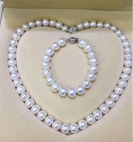 Wholesale 11mm white pearl pendant for sale - Group buy Jewelryr Pearl Set noble jewelry mm white pearl pendant earring set