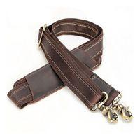 ingrosso cinghie da cartella-Tracolla in pelle vintage per cintura portadocumenti di ricambio per valigetta