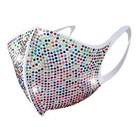 Wholesale female face mask sexy for sale - Group buy 2020 New Fashion sexy Women shiny rhinestone veil Female Color Diamond Charming face Mask for Dance party accessories jewelry