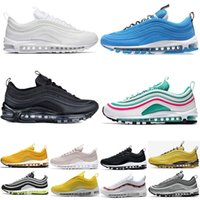 new arrival 520d5 74ac4 nike air max 97 Chaussure de course à bas prix New 97 97s South Beach  Triple blanc noir jaune SE Runner Og formateur Silver Bullet Gold Sneakers  de sport ...