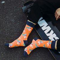 erwachsene muster socken großhandel-Neue Cartoon Socken Strümpfe Mode Männer Frauen Studenten Erwachsene Socken Blumenmuster Lässig Baumwollstrumpf Joggen Camping Runing Geschenke M163Y