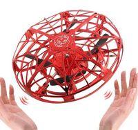 mini-elektro-hubschrauber großhandel-Anti-Kollisions-Flughubschrauber Magie Hand UFO Ball Aircraft Sensing Mini Induktions Drohne UFO Spielzeug Kids Electric Electronic Toy