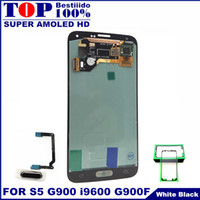 Wholesale phone screen replacement for samsung for sale - Group buy LCD Screen Replacement For Samsung Galaxy S5 i9600 G900F G900H G900M AMOLED LCDs Phones Display Touch Digitizer With Home Button