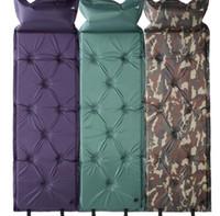 gonflant le tapis de nuit achat en gros de-Tapis de camping auto-gonflable lit de couchage Tapis de camping gonflable pour pique-nique Tapis de plage Tapis de matelas à air