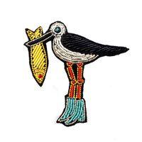 botas indias al por mayor-Regalo de dibujos animados Broche Pins parche Para Ropa mochila decoración bordado a mano hecho de alta calidad material de lingotes indio aves ware ware botas