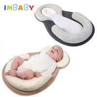 almohada antirruido recién nacido al por mayor-Cómodo Almohada para bebé Dormir infantil Posicionador Almohada para bebé Cojín antivuelco Rollover Prevención Colchón recién nacido